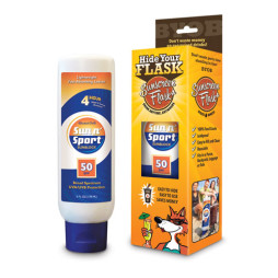 Sunscreen Flask and Pkg 500